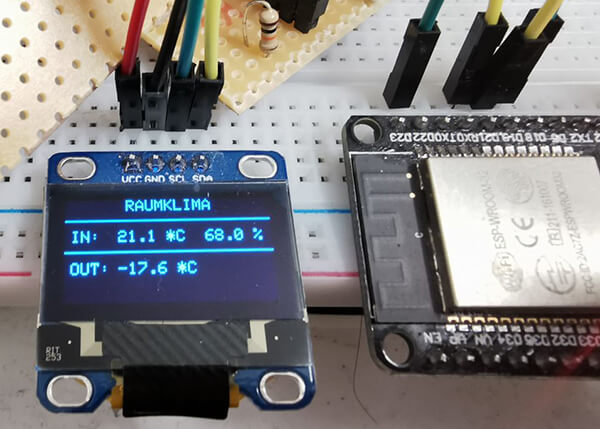 SmartRV: Negative Temperatur-Werte auf OLED-Display