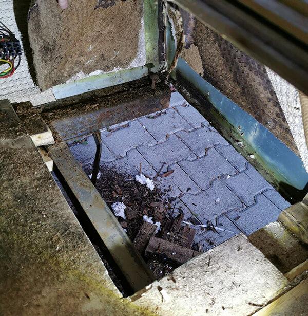 Boden Ecken restaurieren Wohnwagen