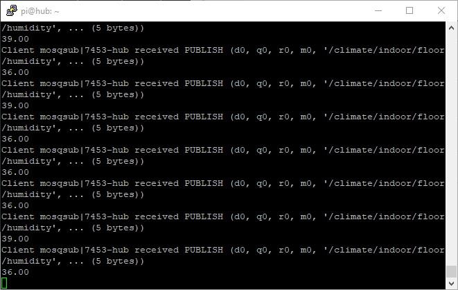 MQTT Raspberry Pi ESP32 DHT11